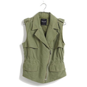 Madewell Army Green Modern Safari Vest Size Large